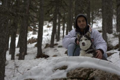 Siberian Husky Elie Troodos Mountains